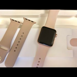 Apple Watch Series 3- 38mm- Gold/ Pink Sand Band